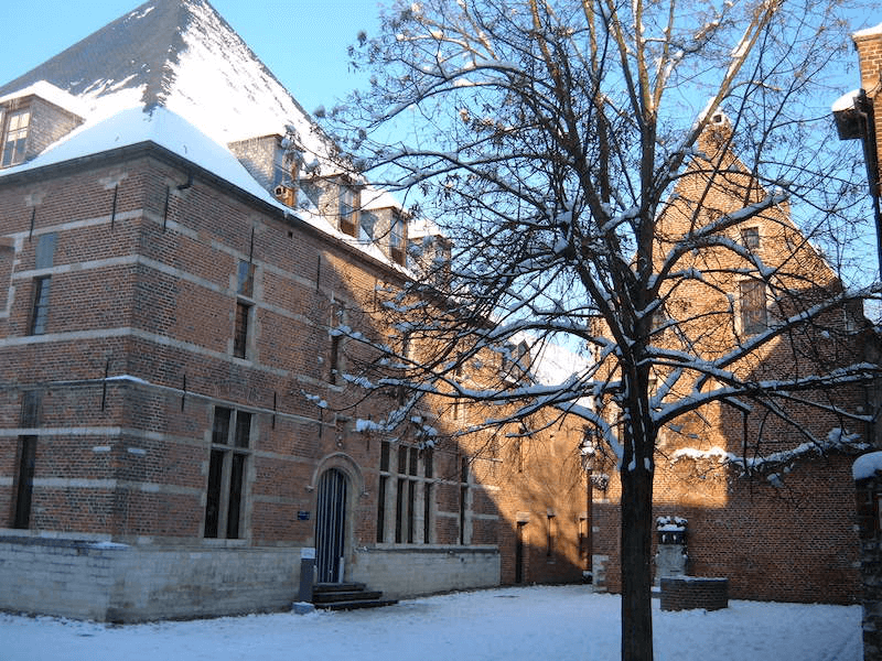 The Faculty Club venue in the snow